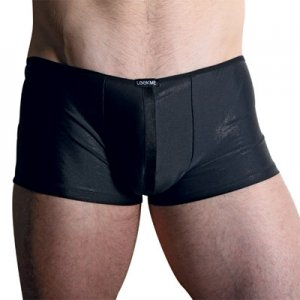 Lookme Strass Shining Back Cut Out Boxer Brief Underwear Black 06-67