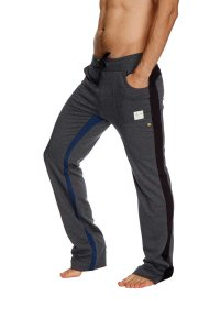 4-rth Ultra Flex Yoga Track Pants Charcoal/Black/Royal