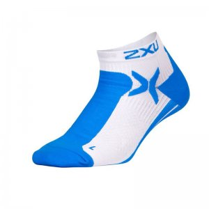 2XU Peformance Low Rise Socks Director Blue/White MQ1903E