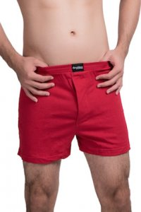Nukleus Heart Collection The Caring Heart Loose Boxer Shorts Underwear Red N-UE-07