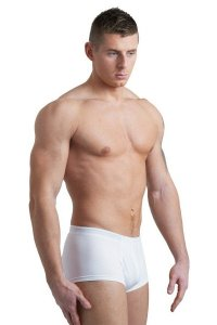 L'Homme Invisible Organic Cotton Mini Boxer Brief Underwear White MY18-PER-002