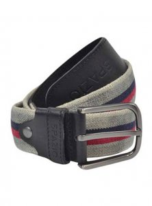 Spazio Stripe Belt Black 3556