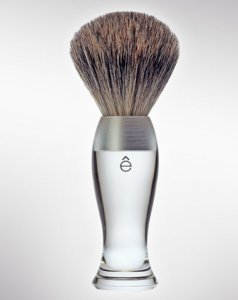 eShave Badger Hair Shaving Brush Fine Clear 780008