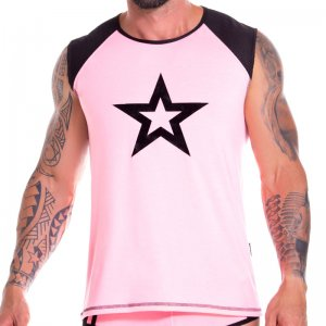 Jor Astro Star Muscle Top T Shirt Pink 0857