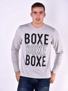 Roberto Lucca BOXE Regular Fit Long Sleeved T Shirt Grey Melange 80219-02034