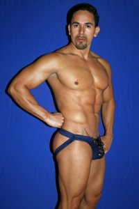 Activeman 1 1/4 Inch Waistband Gameday Lace Up Jock Strap Underwear Navy Blue A4710