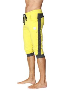 4-rth Cuffed Yoga 3/4 Pants Tropic Yellow/Charcoal