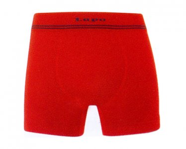Lupo Microfiber Seamless Boxer Brief Underwear Red 673-02