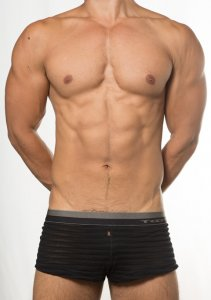 Toot See Through Stripe Trunk Underwear Black KT15E386
