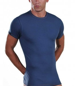 Lord Elastic Short Sleeved T Shirt Jean Blue 8168