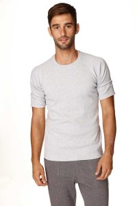4-rth Hybrid Raglan Short Sleeved T Shirt Heather Grey