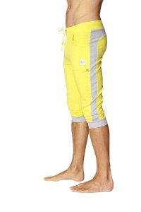 4-rth Cuffed Yoga 3/4 Pants Tropic Yellow/Grey