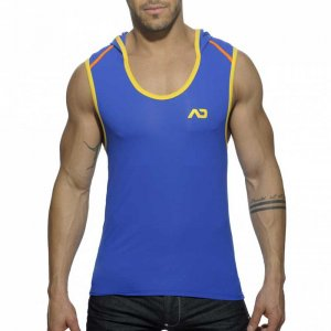 Addicted Hoody Sleeveless Sweater Royal Blue AD377