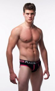 Plastik Clothing Detail Civilians Brief Underwear Black/Pink