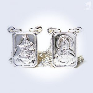 CA-RIO-CA Scapular Our Lady Of Mount Carmel Necklace Silver ...