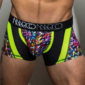 Marco Marco Neon Script Boxer Brief Underwear Black/Green
