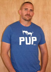 Ajaxx63 Pup Play Regular Fit Short Sleeved T Shirt Royal Blue RF31