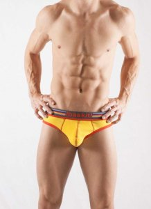 Baskit Ribbed Brief Underwear Lemon Chrome