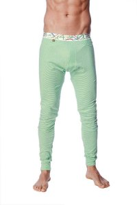 4-rth Crosstrain Thermal Stripe Yoga Pants Green/White