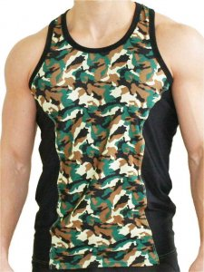 Good Boy Gone Bad Aron Training Tank Top T Shirt Camo/Black