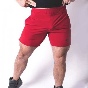 Bullywear Casual Gym Shorts Red/Black CS71-RB