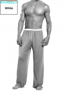 Magic Silk Silk Knit Lounge Pants White 1886