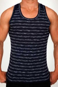 Pistol Pete Stealth Tank Top T Shirt Navy TK160-117