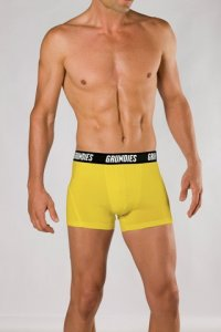 Grundies Muscle Trunk Underwear Yellow/Black