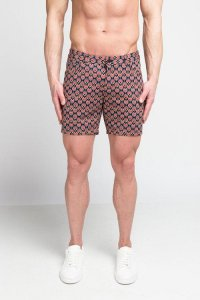 ST33LE Geo Abstract Stretch Knit Shorts STL1936