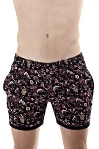 L'Homme Invisible Mosaic Lounge Sport Shorts Black HW135-MOS-001