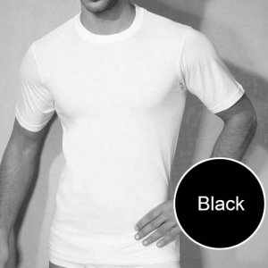 Doreanse Plain Short Sleeved T Shirt Black 2505