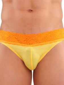 Good Boy Gone Bad Kurt Lace Brief Underwear Yellow