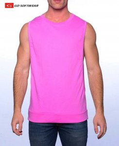 Go Softwear Cal. Guy Shredder Muscle Top T Shirt Pink 4717
