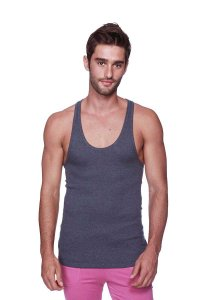 4-rth Racer Back Yoga Tank Top T Shirt Charcoal