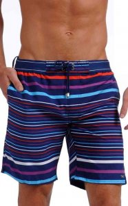 2(x)ist Graduate Stripe Maui Boardshorts Beachwear Estate Blue 89028 USA1