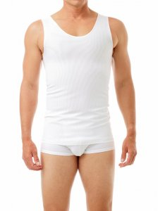 Underworks Shapewear Ultimate Double Panel Body Shaper Compression Tank Top T Shirt White 997100