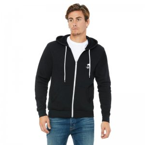 CA-RIO-CA Logotipo Zip Up Hoodie Long Sleeved Sweater Black/...