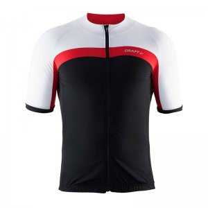 Craft Velo Jersey Short Sleeved T Shirt Black/Bright Red 1903993