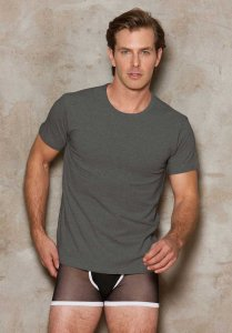 iCollection Modal Short Sleeved T Shirt Steel 8807