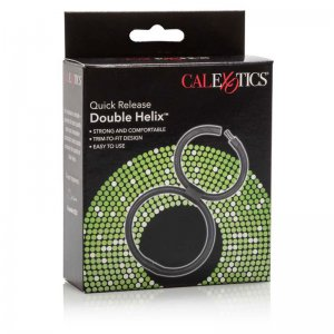 Cal Exotics Double Helix Cock Ring Black 0513342