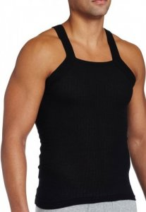 2(x)ist Essential Square Cut Tank Top T Shirt Black 1027 USA1