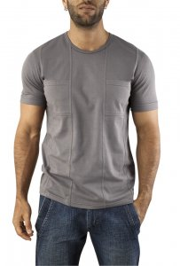 Vuthy Pocket Short Sleeved T Shirt Grey 243
