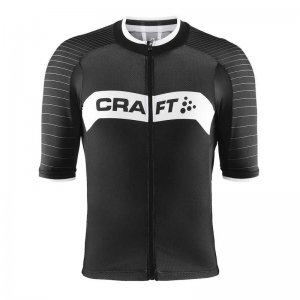 Craft Gran Fondo Jersey Short Sleeved T Shirt Black/White 1903989