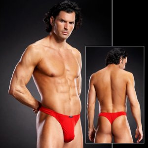 Blue Line Performance Microfiber Thong Underwear Red BLM001
