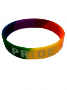 DBE Pride Silicone Armband Rainbow