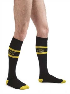 Mister B Code Football Socks Black/Yellow 823020