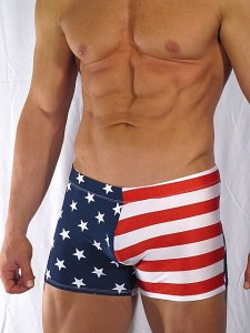 Buffedbod Custom USA Square Cut Trunk Swimwear SWS018