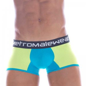 MIIW Contrast Two Tone Boxer Brief Underwear Bright Lime 3022-41