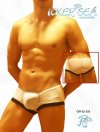 Icker Sea Mesh Contrast Trim Mini Boxer Brief Underwear White COI-12-132