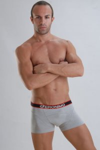 Geronimo Boxer Brief Underwear Grey Bamboo 959B1